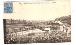 CPA Saint Christau Lurbe La Gare 64 Pyrénées Atlantiques - France