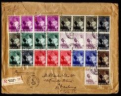 A6183) Belgien Belgium R-Brief Bruxelles 02.05.37 M. Bunter Frankatur - Briefe U. Dokumente