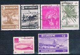 Bangladesh 1973  -  Yvert  29 + 30 + 32 + 33 + 37 + 38  ( Usados ) - Bangladesh