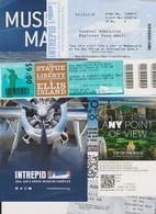 Lot Tickets, Plan Intrepid Sea Museum, TOR, 9/11, Statue Liberté, Intrepide Sea, NEW-YORK CITY 2019 - Tickets - Entradas