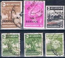Bangladesh 1973  -  Yvert  3 + 4 + 5 + 6 + 12   Servicio   ( Usados ) - Bangladesh