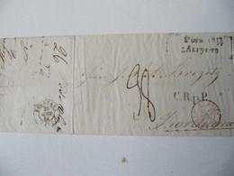 MARQUE POSTALE  LETTRE  RIGA  Vers  BORDEAUX   1844 - Marcophilie (Lettres)