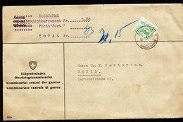 A6185) Schweiz Brief Bern BUNDESHAUS 30.01.40 EF Mi.304 - Covers & Documents