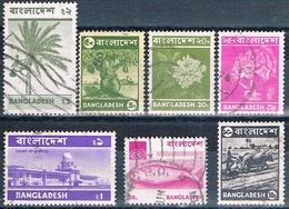 Bangladesh 1976  -  Yvert  64 + 65 + 66 + 67 + 75 + 90   ( Usados ) - Bangladesh