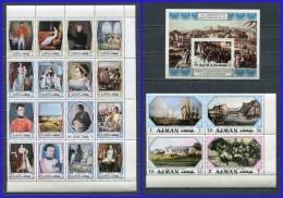 AJMAN 1971 Mi # 1148 - 1167 NAPOLEON SET Of 20 STAMPS + Block # 323 MNH - Ajman