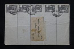 ROUMANIE - Entiers Postaux ( Bande Journal ) De Bucarest Pour La Belgique En 1911 - L 28120 - Postal Stationery