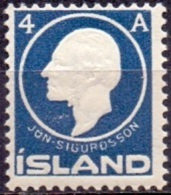 IJSLAND 1911 4aur Blauw Jon Sigurdson PF-MNH - Neufs