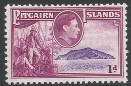 Pitcairn Islands. 1940-51 KGVI. 1d MH. SG 2 - Stamps