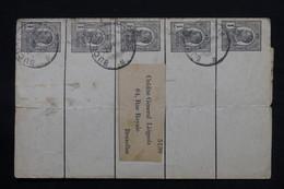 ROUMANIE - Entiers Postaux ( Bande Journal ) De Bucarest Pour La Belgique En 1911 - L 28121 - Postal Stationery