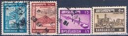 Bangladesh 1978 / 81  -  Yvert  125 + 128 + 129 + 164  ( Usados ) - Bangladesh