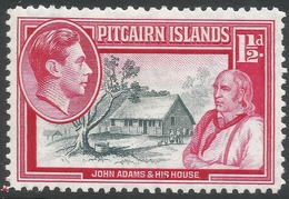 Pitcairn Islands. 1940-51 KGVI. 1½d MH. SG 3 - Stamps