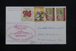 COLOMBIE - Carte Postale De Cartagena Pour L 'Allemagne En 1965 , Cachet De Bateau - L 28123 - Colombia