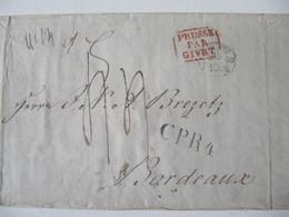 MARQUE POSTALE  LETTRE  STETTIN    Vers  BORDEAUX   1837 - Marcophilie (Lettres)