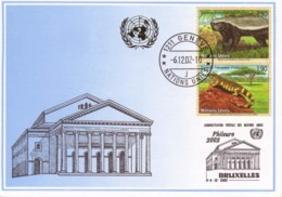 NATIONS-UNIES - Genève : 2002 -  PHILEURO 2002 Bruxelles - Varan, Ratel - Genf - Büro Der Vereinten Nationen