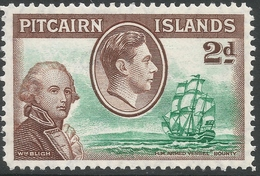 Pitcairn Islands. 1940-51 KGVI. 2d MH. SG 4 - Stamps