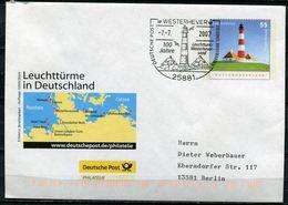 "Germany 2007 Plusbrief Leuchtturm -Westerheversand -Mi.Nr.EA EB2 U.SST ""Westerhever-100 Jahre Leuchtturm""1 Beleg - Leuchttürme"