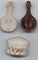 Instruments De Musique  Tambour Mandolines - Oude