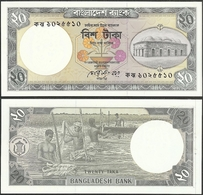 BANGLADESH - 20 Taka ND (1998) P# 27a Asia Banknote - Edelweiss Coins - Bangladesch