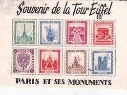 France Souvenir De La Toure Eiffel Paris Et Ses Monuments - Pubblicitari