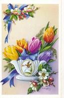 Fleurs - Illustration TULIPES (signé Niubo) - Fleurs