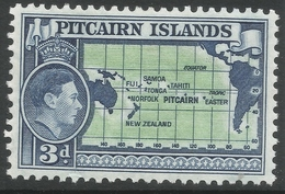 Pitcairn Islands. 1940-51 KGVI. 3d MH. SG 5 - Stamps