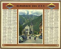 Calendrier PTT 1960 - Chamonix - Calendarios