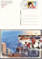 SUISSE :  2001 - FDC - Entier Postal Illustré : Hockey Sur Glace Aux Jeux Olympiques - Entiers Postaux