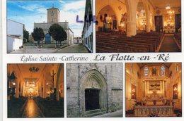 DEPT 17 : édit. Artaud Frères : Île De Ré La Flotte En Ré , église Sainte Catherine Multivues - Ile De Ré