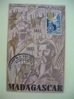 Carte Maximum 1952 Madagascar  - Centenaire De La Médaille Militaire  Cachet Tananarive Madagascar - Madagascar (1889-1960)