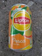 Lattina Italia - Lipton Tea Pesca - 33 Cl. -  ( Lattine-Cannettes-Cans-Dosen-Latas ) - Lattine