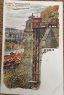 Carte Postale, ELEKTR.PERSONENAUFZUG, Matte-Plattform, BERN - BE Bern