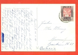 LIBIA - 75 CENT. - SERIE PITTORICA DEL 1931- DA TRIPOLI PER LA GERMANIA - 17/3/1939 - Libia