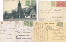 """Belgique Ensemble De 4 Lettres Dont Obl FORTUNE """" PAMEL """" Sur Lettre Pour La France - 1915-1920 Albert I"""