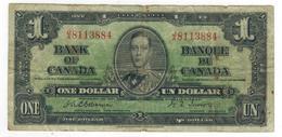 Canada 1 Dollar 1937, Osborne-Towers (Rare) Used, See Scan. - Canada