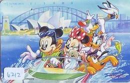 Télécarte Japon DISNEY / 110-169804 - Série Voyage 11/16 - AUSTRALIA KOALA SYDNEY OPERA (6212) Japan Phonecard - Disney