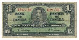 Canada 1 Dollar 1937, Gordon-Towers , Used, See Scan. - Canada