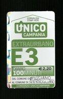 Biglietto Autobus Italia - Unico Campania - E.3 Extraurbano 100 Min. Da Euro 2.20 - Autobus