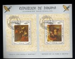 Francobolli Panama - Foglietto Timbrato N.1 - Serie 2 Valori - Panama