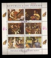 Francobolli Panama - Foglietto Timbrato - Serie 6 Valori - Panama