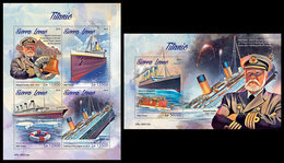 SIERRA LEONE 2019 - Titanic. M/S + S/S Official Issue. - Ships