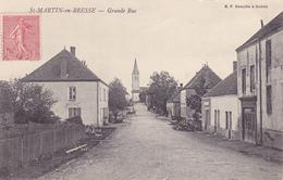 CPA 71 @ SAINT MARTIN EN BRESSE - Grande Rue En 1905 - Autres Communes