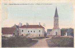 CPA 71 @ SAINT MARTIN EN BRESSE - L'Eglise Et La Gendarmerie En 1907 - Autres Communes
