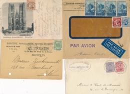 Belgique Ensemble De 15 Lettres Et CP Semi-modernes - A Etudier ! - Brieven En Documenten