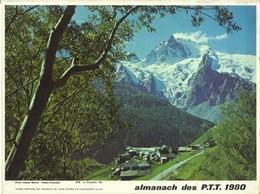 Calendrier PTT Double 1980 - Le Chazelet 05 / En Camargue - Calendars