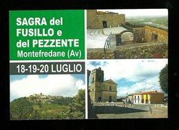 Cartoncino Pubblicitario Formato Cartolina - Sagra Del Fusillo E Del Pezzente - Montefredane ( Avellino ) - Fiere