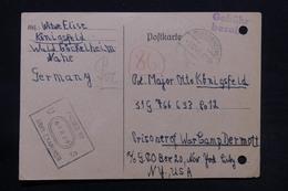 ALLEMAGNE - Carte De Correspondance De Bad Kreuznach Pour Prisonnier à New York En 1945 Avec Contrôle Postal - L 28159 - Zone Anglo-Américaine