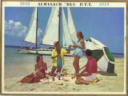 Calendrier PTT 1959 - Cote D'Azur - Calendriers