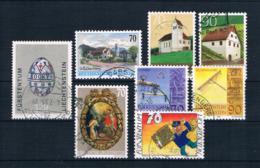 Liechtenstein 2001 Kleines Lot 8 Werte Gestempelt - Collections