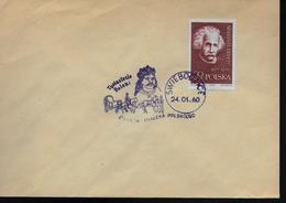POLOGNE Lettre  1960 Swiebodzice Einstein - Albert Einstein