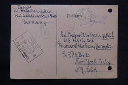 ALLEMAGNE - Carte De Correspondance De Sobernheim Pour Un Prisonnier De Guerre à New York En 1945 - L 28161 - Zone Anglo-Américaine
